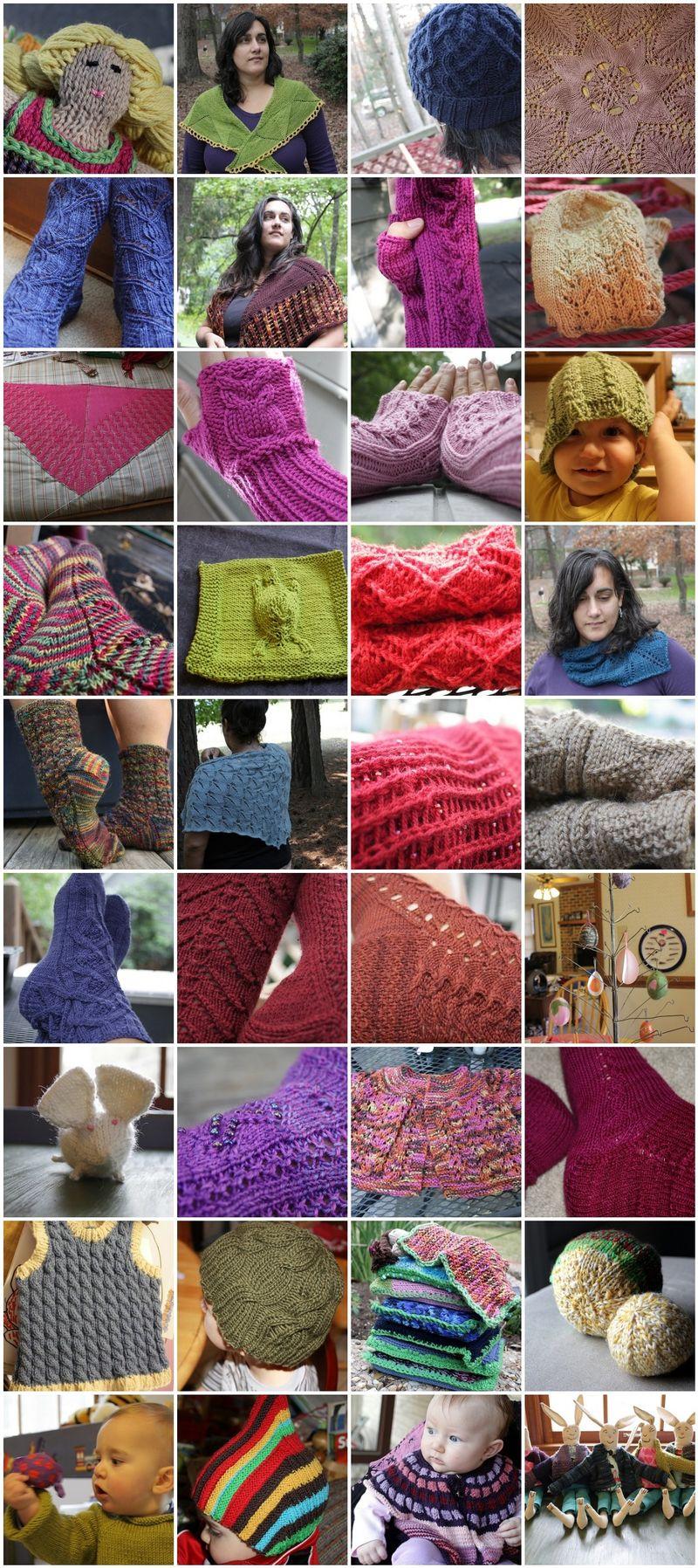 2009 knitting mosaic