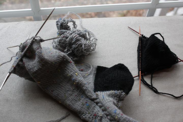 Sock unraveled
